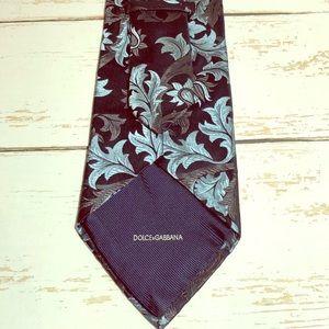 Dolce & Gabbana Cravatte 100% Silk Damask Tie